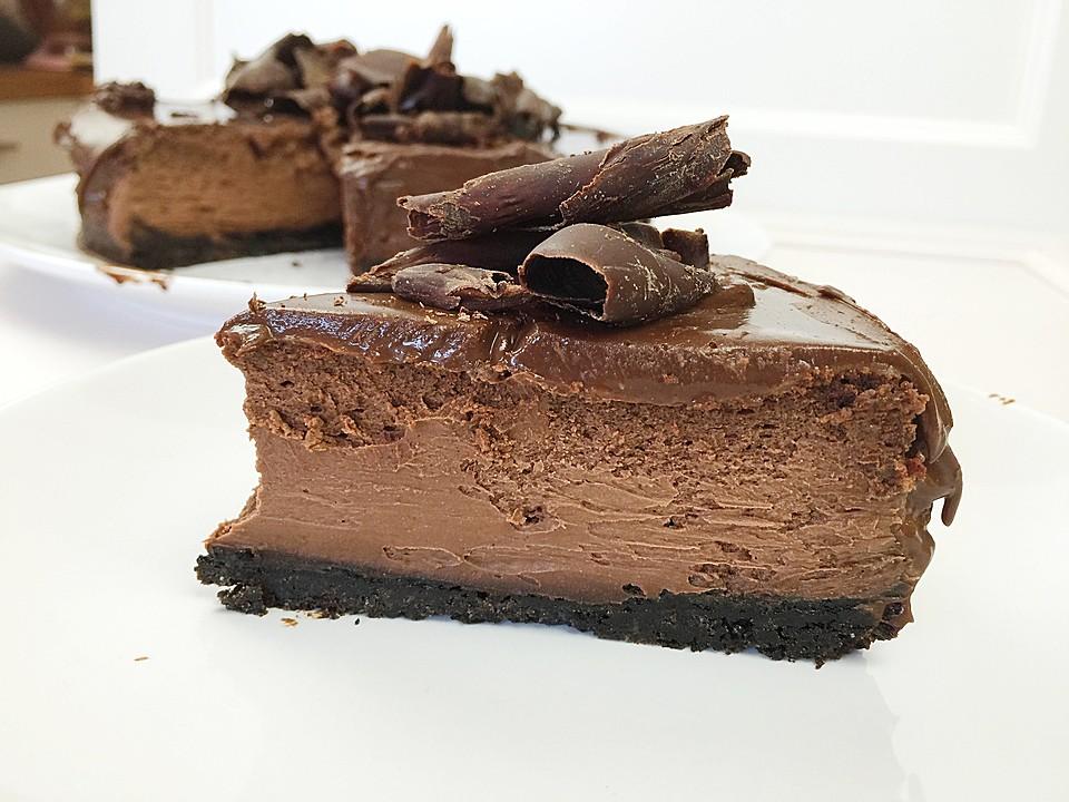 Chocolate Cheesecake Mit Oreo Boden Von Cookbakery Chefkoch De