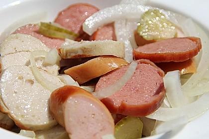 Schneller Grillwurstsalat