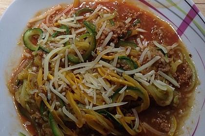 Zoodles mit Tomaten-Hackfleisch-Sauce 2