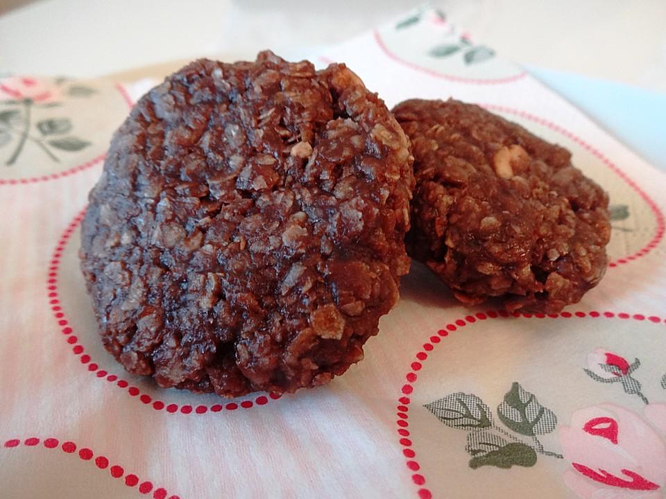 Erdnussbutter Schoko Kokos Cookies Ohne Backen Von Wiktorija