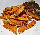 Knusprige Süßkartoffel-Pommes Frites (Bild)