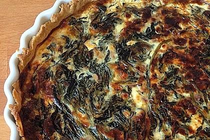 Quiche mit Spinat und Feta