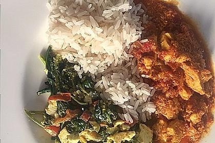 Indisches Butterhuhn mit Palak Paneer 2