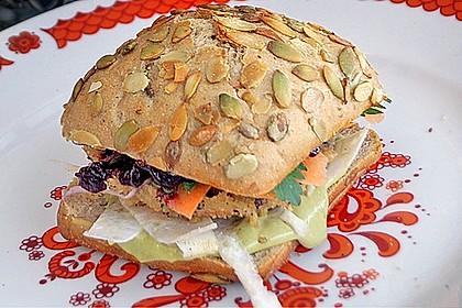 Winterlicher Burger mit Kürbis vegan