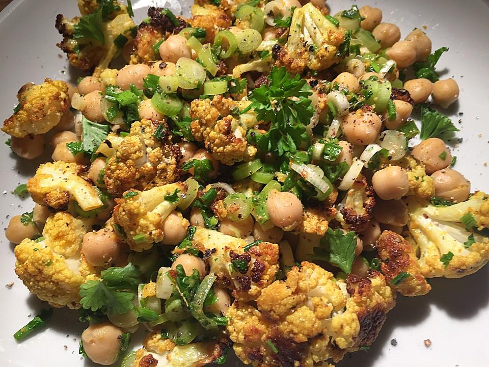 Gerosteter Blumenkohl Salat Von Der Biokoch Chefkoch De