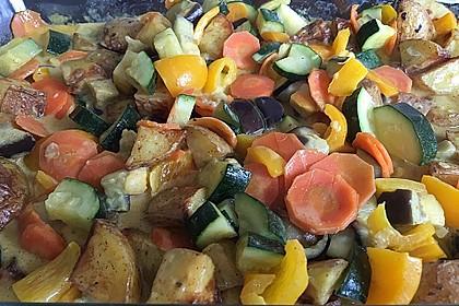 Scharfes Gemüse-Curry nach Thai Art mit indisch angehauchten Ofenkartoffeln 1
