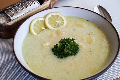 Italienische weiße Reissuppe 1