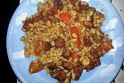 Ebly mit Tofu und Tomaten