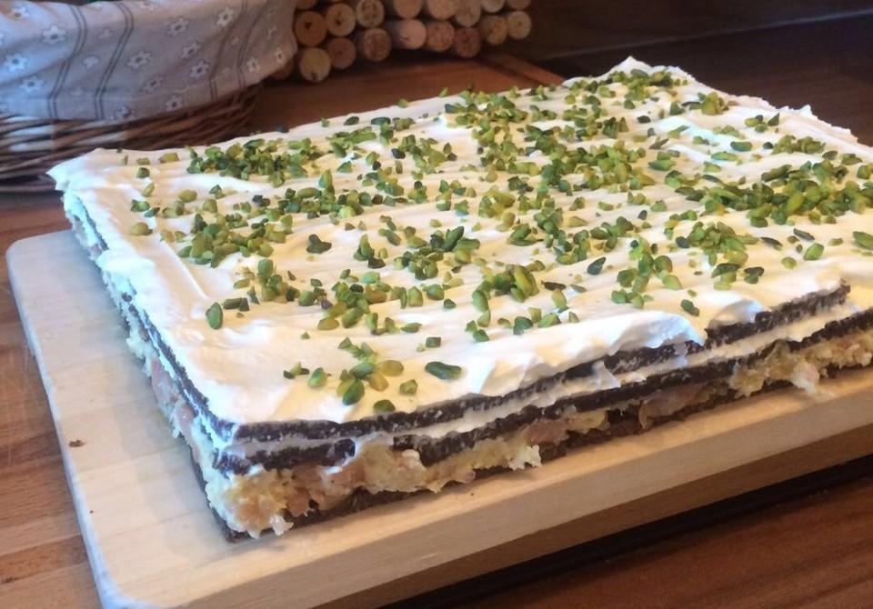 Schwarzbrot Torte Mit Lachs Oder Kochschinken Von Tanzmausdagi