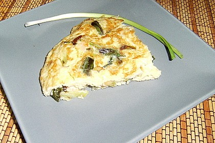 Tortilla de Ajo tierno