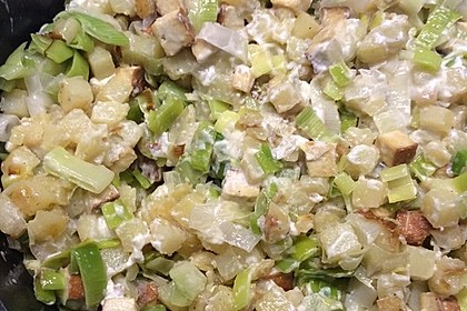 Kartoffel-Lauch-Pfanne mit Feta (Bild)