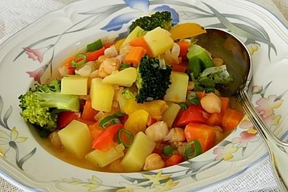 Marrokanischer Gemüsetopf mit Kichererbsen (Bild)