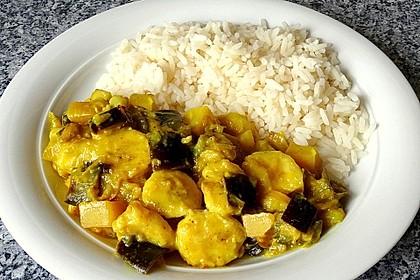 Auberginen-Bananen-Curry