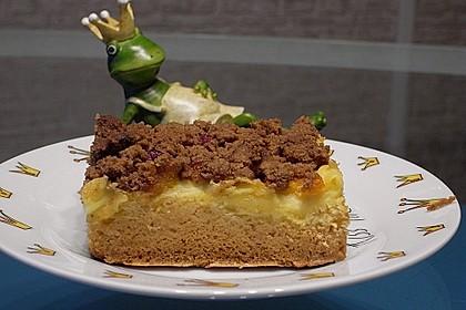 Urmelis Spekulatius-Pudding-Streuselkuchen mit Obst vom Blech