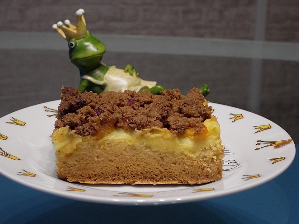 Urmelis Spekulatius Pudding Streuselkuchen Mit Obst Vom Blech Von