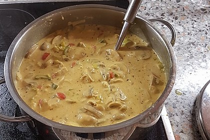 Hähnchen-Curry-Lauch-Suppe 5
