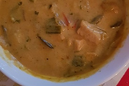 Hähnchen-Curry-Lauch-Suppe 13