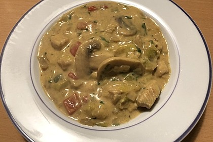 Hähnchen-Curry-Lauch-Suppe 14