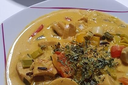 Hähnchen-Curry-Lauch-Suppe (Bild)
