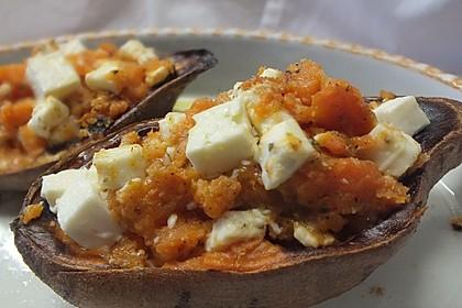Gefüllte Süßkartoffeln mit Kichererbsen und Ziegenkäse 6