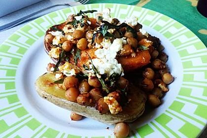Gefüllte Süßkartoffeln mit Kichererbsen und Ziegenkäse 8
