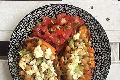 Gefüllte Süßkartoffeln mit Kichererbsen und Ziegenkäse 9