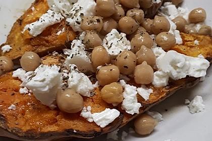 Gefüllte Süßkartoffeln mit Kichererbsen und Ziegenkäse 2