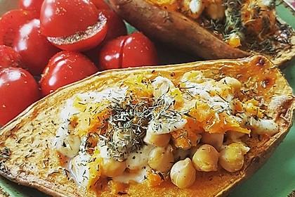 Gefüllte Süßkartoffeln mit Kichererbsen und Ziegenkäse 5