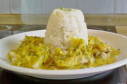 Seelachsfilet mit Curry-Cremesauce 3