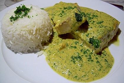 Seelachsfilet mit Curry-Cremesauce 1
