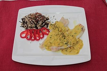 Seelachsfilet mit Curry-Cremesauce 2