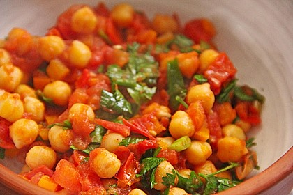 Kichererbsen mit Tomaten 2