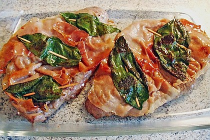 Kalbsschnitzel mit Schinken und Salbei 10