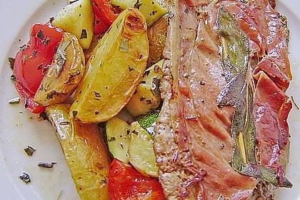 Kalbsschnitzel mit Schinken und Salbei 9