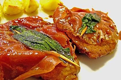 Kalbsschnitzel mit Schinken und Salbei 1