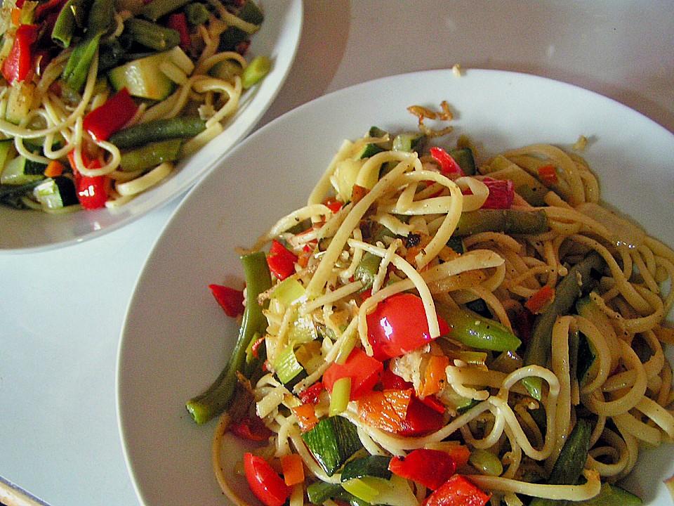 Gebratene Spaghetti Mit Gemüse Von Whiteangel Chefkochde