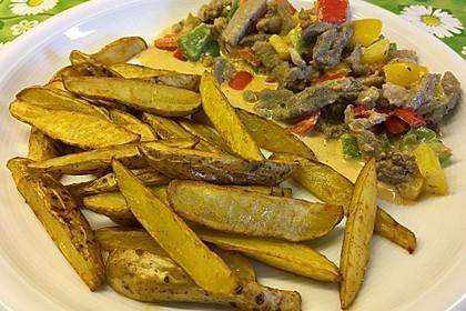 Kartoffelspalten aus dem Ofen 8