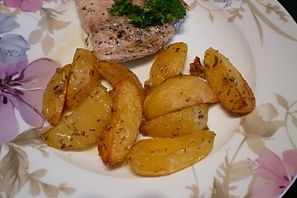 Kartoffelspalten aus dem Ofen 1