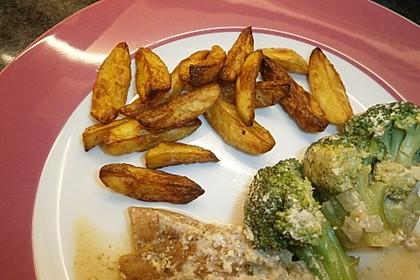 Kartoffelspalten aus dem Ofen 6