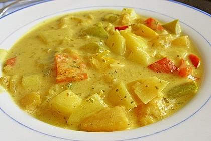 Kartoffel - Curry mit Pfirsich 7