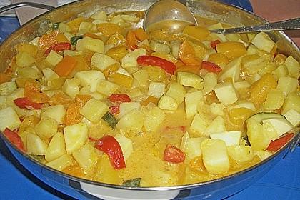 Kartoffel - Curry mit Pfirsich 31