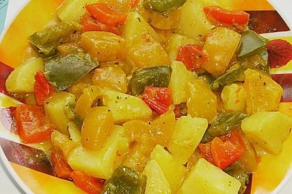 Kartoffel - Curry mit Pfirsich 13