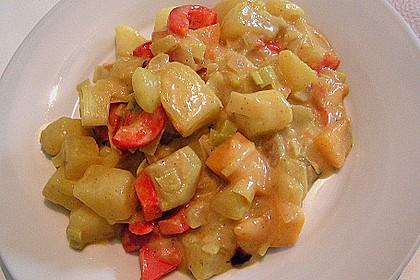 Kartoffel - Curry mit Pfirsich 21