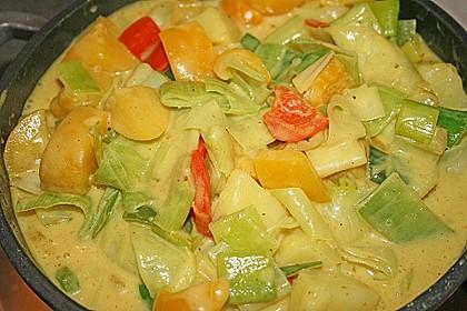 Kartoffel - Curry mit Pfirsich 12