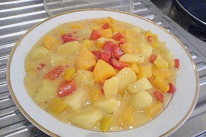 Kartoffel - Curry mit Pfirsich 37