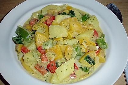Kartoffel - Curry mit Pfirsich 10
