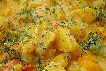 Kartoffel - Curry mit Pfirsich 9