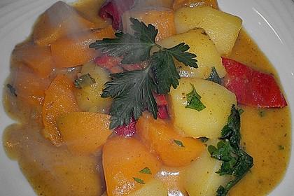 Kartoffel - Curry mit Pfirsich 20