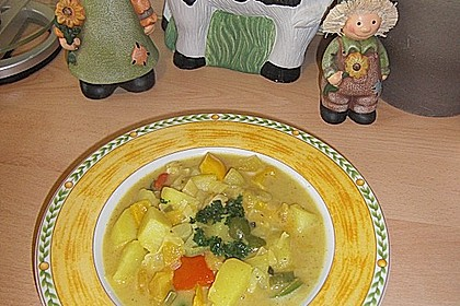 Kartoffel - Curry mit Pfirsich 33