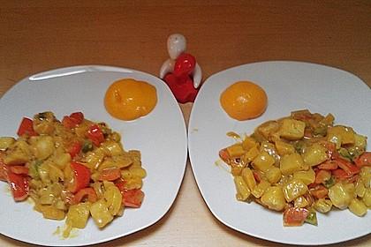 Kartoffel - Curry mit Pfirsich 36